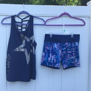 Justice Active Reversible Dance Shorts & Tank 20